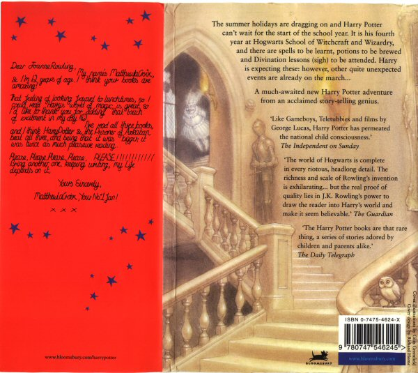 Harry Potter Book Back Cover : Errol hprankdown